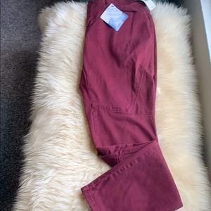 Maroon tummy control jeans